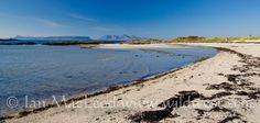 Traigh near Arisaig, the islands of Rum and Eigg in the background