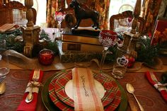 Book Club tablescape