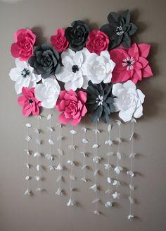 DIY Paper Flower Backdrop by KMHallbergDesign on Etsy