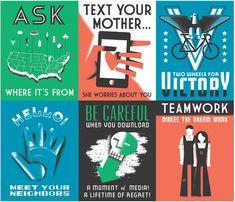 modern WPA posters for GOOD magazine by Dan Cassaro