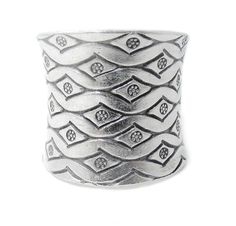 Sterling Silver Wide Band RingEngraved Ethnic by SilverShapes