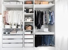 Closet Tour - How to build your own Walk in Closet Ankleidezimmer, Ik . - Closet Tour – How to build your own Walk in Closet Ankleidezimmer, Ikea Pax, walk-in closet, clos - Ikea Bedroom, Bedroom Wardrobe, Wardrobe Closet, Bedroom Storage, Ikea Pax Closet, Dorm Closet, Closet Office, Bedroom Furniture, Master Bedroom