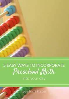 There is no need for a formal math curriculum for your preschooler. Hit all the STEAM areas with the math that is all around you everyday. Easy-Peasy.