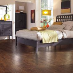 Shop allen + roth 4.85-in W x 3.93-ft L Marcona Hickory Handscraped Laminate Wood Planks at Lowes.com