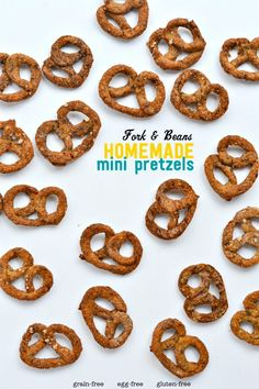 Homemade Mini Pretzels - made without yeast, grains, and eggs!