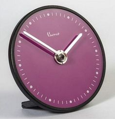 Table clock Vaerst plastic purple