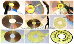 making use of old CDs as wardrobe dividers