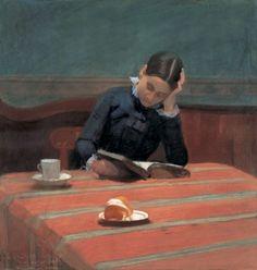 William Stott of Oldham CMS Reading by Gaslight 1884