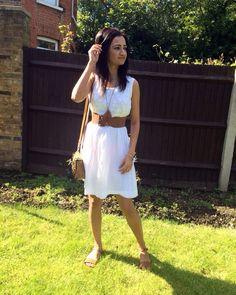 #white #dress from #Indian local shop #bag from #riverisland #footwear from #topshop#summer #sun #modaonthego #thereisalovestorybetweenagirlandherdress