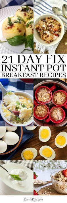 21 Day Fix Instant Pot Breakfast Recipes