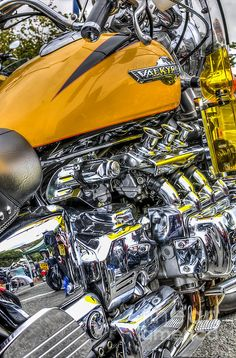Gleaming chrome of an #engine of a #Honda #Valkyrie #motorcycle. #fineart #decor…