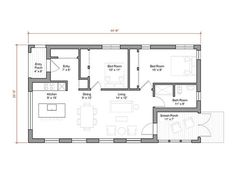 1000 Sq Ft 2 Bedroom Pre Fab on One Level w/ Screened Porch | via Gologic