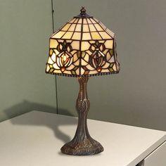 Lámpara de mesa Tiffany Hexa II