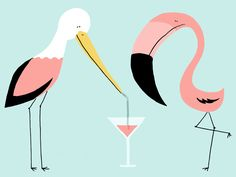 flamingo by nozzman