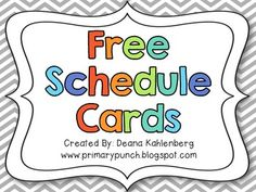 Cards {Freebie} These were the best ones I found and they were FREE too. Thank you Primary Punch!These were the best ones I found and they were FREE too. Thank you Primary Punch! Classroom Organisation, Teacher Organization, Classroom Setup, Kindergarten Classroom, Future Classroom, Classroom Management, Classroom Freebies, Chevron Classroom, Classroom Labels