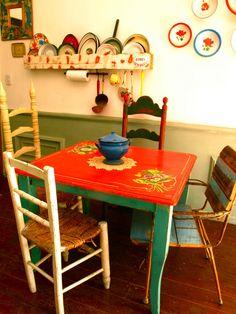 mesa de campo, cuadrada.....
