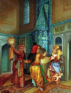 by kamil aslanger Dance Oriental, Belly Art, Arabic Art, Turkish Art, Historical Art, Arabian Nights, Ottoman Empire, Islamic Art, Art Oil