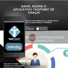 Você está preparado para o Marketing Político Digital?  Conheça a ferramenta TAGPOINT BEACONS e suas vantagens no marketing político digital !  BAIXE NOSSO APP e peça hoje mesmo nosso conteúdo exclusivo para suas campanhas!  É a TAGPOINT mudando o jeito de se comunicar!  PROTEJA O MEIO AMBIENTE !  #mktdigital #mktpolitico #tagpoint #tagpointmg  #TAGPOINTBEACONS #BH #iOT #MinasGerais #psdb #pt #pmdb #jpsdb by tagpointminas