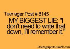 Teenager Post #8145 MY BIGGEST LIE: