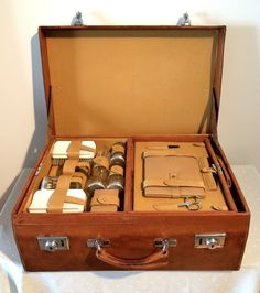 Swaine Adeney Brigg Suitcase with Toiletry Case