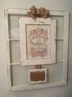 A personal favorite from my Etsy shop https://www.etsy.com/listing/462642366/repurposed-window-and-heirlooms