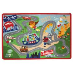 Disney Cars 2 Game Play Rug with 2 Cars by G.A. Gertmenian & Sons. $39.99. 31.5 in x 44 in (80cm x 112 cm). Comes with 2 cars. 2' x 4' Multicolor Cars 2 Kids Rug
