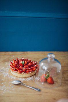 Tarte aux fraises / rhum-coco | vanessa pouzet le blog