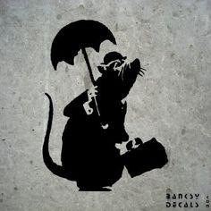 Rato with an umbrella