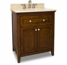 "View the Jeffrey Alexander VAN090-30-T Catham Shaker Collection 30"" Inch Bathroom Vanity Cabinet with Counter Top and Bowl at Build.com:  $1100"