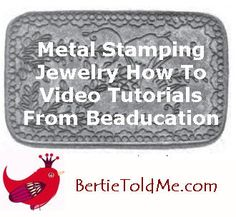 Post image for Metal Stamping Jewelry How To Video From Beaducation   Must try!  #ecrafty @Kim at eCrafty.com #stampedmetalblanks #jewelrysupplies  #stampedmetaljewelry #necklacesupplies #ballchainnecklaces #jumprings #metalstampingblanks