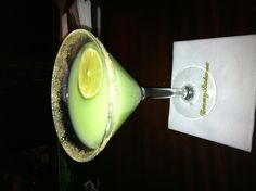 Tommy Bahamas Naples FL. Key lime martini!