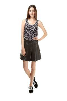 Marc Jacobs: EXETER TANK & LEATHER SKIRT