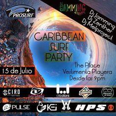 """Llego la """"Caribbean Surf Party"""" la fiesta que todos estabanesperando, este viernes 15 de Julio para que pasesun rato agradable con la mejor vibra caribeña que nos caracteriza. Contarancon la participación de Dj Jamming @jammingdj (Reggae) DJ Zenther @Zentherdjayh (DanceHall – Pachanga) DJ Melproject @djmelproject (Reggaeton – Electrónica). Además rifaremos productos cortesía de las marcas …"""