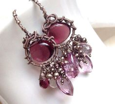 Anna Bella Amethyst earrings by SparrowsJewels on Etsy, $167.00