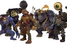 The puppet stars of SMALL SOLDIERS, the Gorgonites and the Commando Elite.