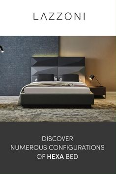 Hexa Bed adds a unique, modern appeal to your bedroom while providing the ultimate comfort you seek in a bed. Discover many configurations of Hexa Bed has to offer. Bedroom Bed Design, Master Bedroom, Bed Base, Bed Storage, Luxurious Bedrooms, House Rooms, Beds, Room Ideas, House Ideas
