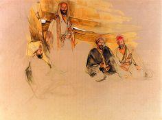John Frederick Lewis,A Bedouin Encampment, Mount Sinai