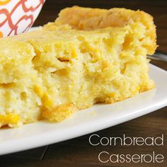 Cornbread Casserole that is truly moist which your family will devour in one sitting - warning it will fill your belly Cornbread Casserole, Casserole Dishes, Casserole Recipes, Jiffy Cornbread, Great Recipes, Favorite Recipes, Tasty, Yummy Food, Thanksgiving Recipes
