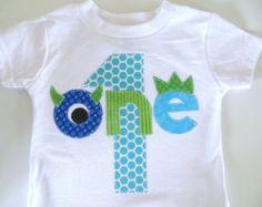 Camiseta de cumpleaños Monster primera camisa por PatchesandPuppies