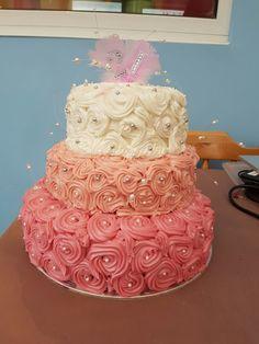 Pink tier cake