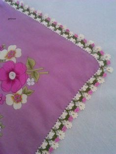 diy_crafts-This post was discovered by Nlg Crochet Trim, Filet Crochet, Crochet Lace, Crochet Dollies, Crochet Flowers, Crochet Borders, Crochet Stitches, Crochet Designs, Crochet Patterns