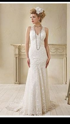 Vintage inspired/1920's gangster inspired wedding dress I love this dress!!!                                                                                                                                                     More
