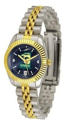 UNCW NC Wilmington Ladies Gold Dress Watch by SunTime. $139.95. Women. AnoChrome Dial Enhances Team Logo And Overall Look. Stainless Steel Case With 23kt Gold-Plated Bezel. Links Make Watch Adjustable. Officially Licensed North Carolina Wilmington Seahawks Ladies Gold Dress Watch. North Carolina Wilmington ladies watch. College women's executive dress watch with stainless steel and gold plating. Features a 23kt gold-plated bezel, stainless steel case and date function. Se...