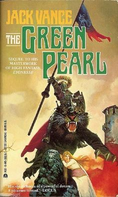 Green Pearl by Jack Vance Berkely Mass Market Paperback) Fantasy Book Covers, Book Cover Art, Fantasy Books, Book Art, Science Fiction, Pulp Fiction, Fiction Novels, Ace Books, Cool Books