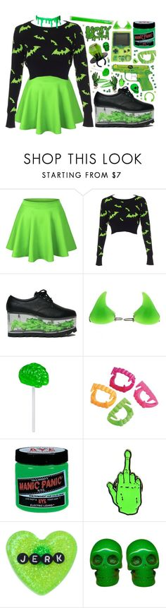 """""""1532"""" by anastaziah2014 ❤ liked on Polyvore featuring Retrò, ELSE, Manic Panic NYC and Sourpuss"""