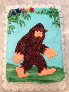 My Bigfoot / Sasquatch birthday cake for BT.