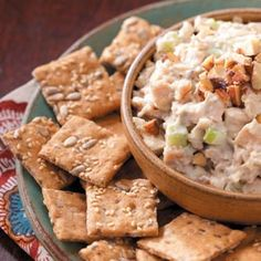 Smoky Chicken Spread Recipe from Taste of Home -- shared by Mary Beth Wagner of Rio, Wisconsin Hummus, Tapas, Great Recipes, Favorite Recipes, Recipe Ideas, Nutrition, Appetizer Recipes, Easter Appetizers, Vegan Appetizers