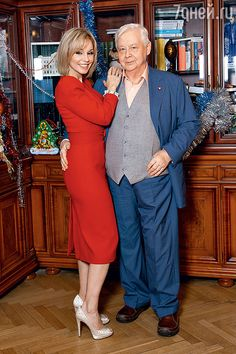 Marina Zudina theater and film actress Date of birth: 03/09/1965 and her husband, actor Oleg Tabakov (born August 20, 1935)