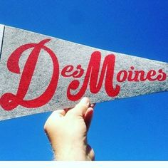 Beautiful vintage-style Des Moines pennant.  Made by local artist @hookloop. A…