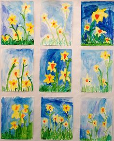 The Prettiest Spring Art for Kids to Make Beautiful spring art from my elementary school. Lots of inspiration for you! 7 beautiful spring art projects your kids can easily make. First Grade Art, 2nd Grade Art, Grade 2, Primary School Art, Elementary Art, Classroom Art Projects, Art Classroom, School Projects, Spring Art Projects